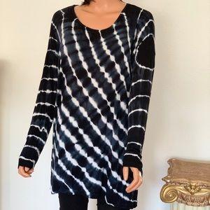 Style & Co Plus Size 1X Tye Dye Tunic Designer Hip